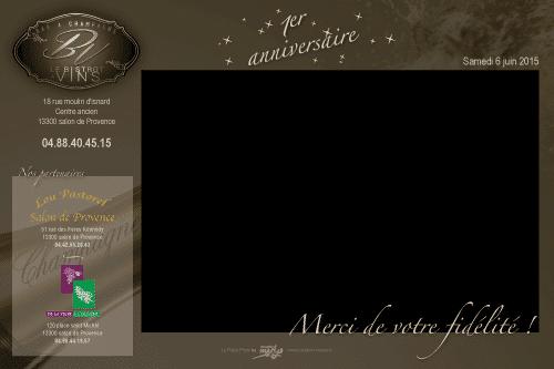 04 juin 2015 | Location Robot Photo pour fêter les 1 an du Bar à Vin à Salon-de-Provence
